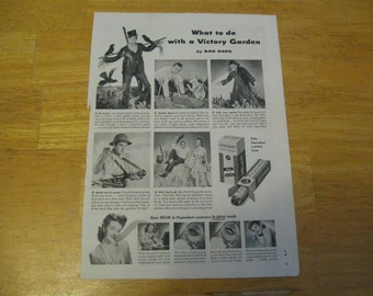 what to do with a victory garden by bob hope  1940s ad