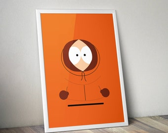 South Park Inspired Poster Print - Kenny | Digital Download | Wall Art | Videogame Art | TV Show Art | Minimalist