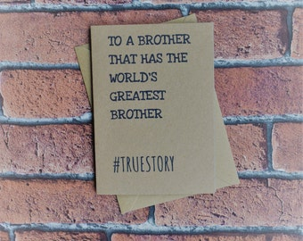 Brother birthday, Brother card, Card for brother, Birthday card, Gift for brother, Brother gift, Brother, Brothers birthday, Big brother,