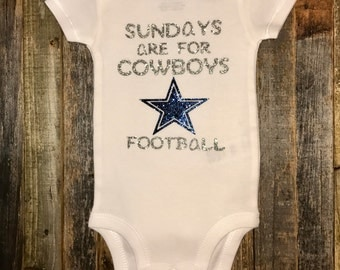 Glitter Dallas Cowboys Onesie