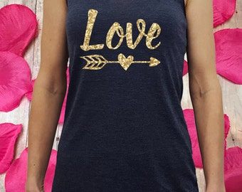 love shirt, Valentine shirt, Valentine tank top, gift for her, womens Valentine, shirt for Valentines Valentines women, glitter love shirt