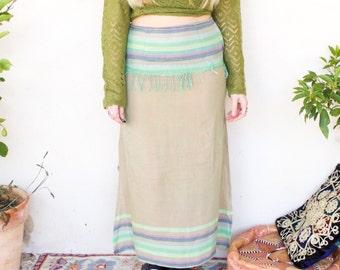 Vintage Hippy Stripe Maxi Skirt