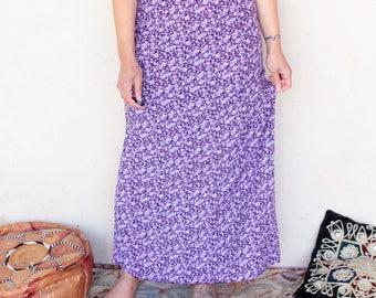 Vintage 90's Floral High Waisted Maxi Skirt