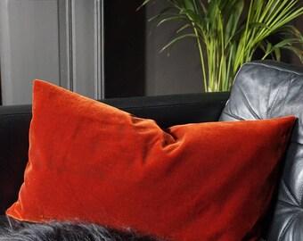 Golden Red Velvet Cushion