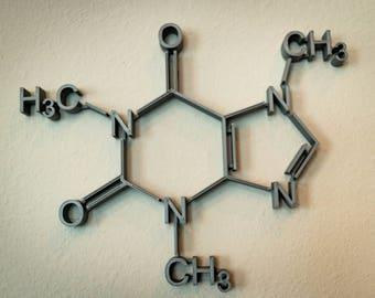 Caffeine Molecule Wall Art