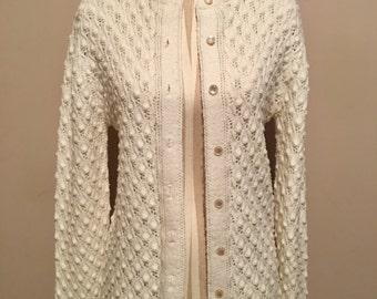 Ivory crocheted cardigan