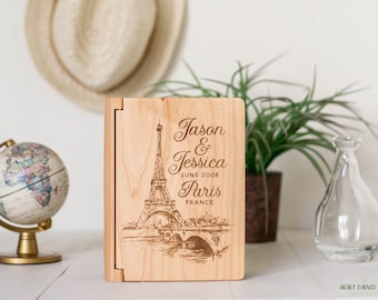 Personalized Paris Photo Album, Engagement or Travel Gift, Engagement in Paris, Je Taime, French Honeymoon, Paris Honeymoon, Paris PA5