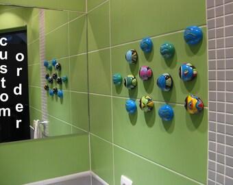 Smiling Fish. 3D Bathroom Miniatures