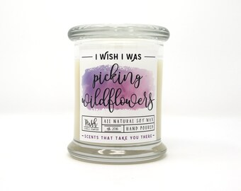 Lily Candle. Floral Scented Candle. Soy Wax Candle. Handmade Candle. Candle Gift. Floral Home Fragrance.Violet Scented Candle.Gifts Under 25