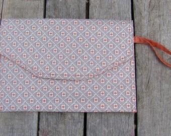 envelope clutch bag, purse, handbag, handmade