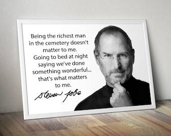 Steve Jobs Inspirational Poster