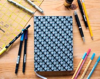 Black, White, Gray Hard Cover Blank A5 Dot Grid Bullet Journal