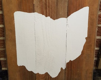 Ohio painted pallet