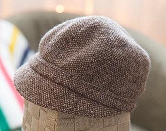 Wool tweed cap