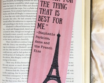 Anna and the French Kiss Stephanie Perkins Quote Bookmark
