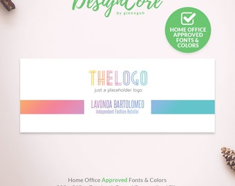 Facebook Cover, Home Office Approved, Personalized, Clean Simple Design, Social Media Banner, Digital Files, Marketing, Fashion, DCFBC007