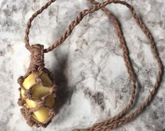 Chakra Hemp Necklace  - Solar Plexus Chakra