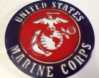 US Marine Corp Metal Sign  custome wall art man cave