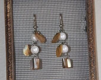 Shabby Chic Jewelry Keeper, Jewelry Organizer, Jewelry Holder, Wall Mount Jewelry Display, Earrings