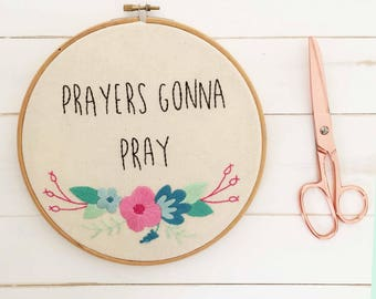 Bible Verse Art - Embroidery Hoop Art - Bible Embroidery Designs - Hand Embroidery - Inspirational Embroidery
