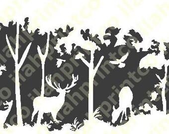 Deer Scene Decal