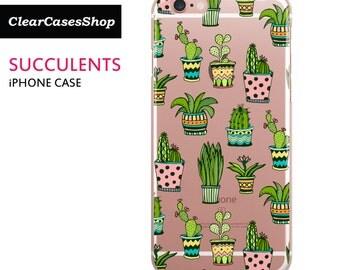 Succulent iPhone 6 case, Succulents iPhone 7 case, Also for iPhone 7 Plus, iPhone 6 Plus, iPhone 6s Plus, iPhone 5/S/SE, S7 & S7 Edge