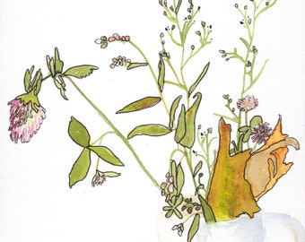 Wildflowers Mug, Floral Art Print, Flower Art by Ochre Nest