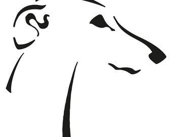 Whippet sticker | Whippet decal | Whippet vinyl | Car decal | Car sticker | Dog sticker | Dog decal | Laptop sticker | Window sticker