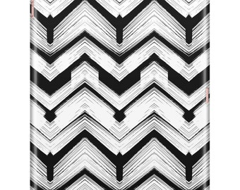 Black and White Chevron iPad Case