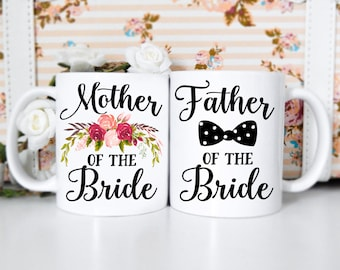 Mother & Father of the Bride Mug Set | Father of the Bride Mug, Mother of the Bride Mug, Wedding Mug, Wedding Mug Set, Couple Mug Sets