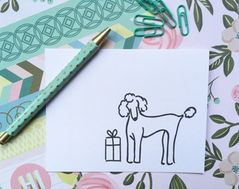 King Poodle Birthday Card