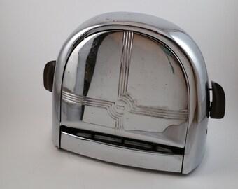 Vintage KNAPP-MONARCH 1930s Art-Deco Chrome Electric Toaster, Vintage Flapper Toaster