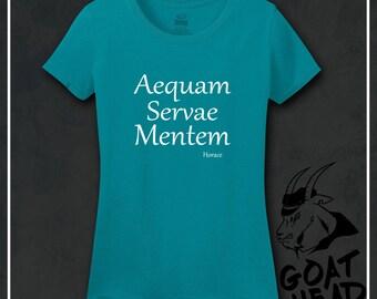 Keep Calm Shirts, Philosophy, Yoga Shirt, Yoga Gifts, Latin, Meditation, Positive Vibes, Literary Gifts, Inspirational, Tshirt, Shirt, Tee