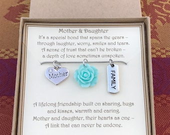 Mother and Daughter Necklace - C258 - Mother Daughter Gift - Mother and Daughter Gift - Gift from Daughter to Mother - Mother Daughter Love
