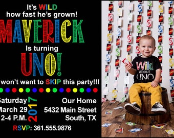 Uno Birthday Invitations & FREE Thank You cards