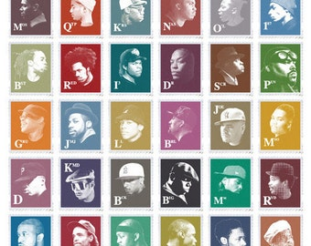 GoldenEra Hip-Hop Stamps A2 LithoPrint
