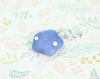 Kawaii Ocean Blue Star - Polymer Clay Charm