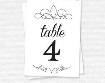Brand table printable, Wedding Reception, wedding stationery, printable (#04)