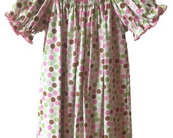 Piggy Smocked Bishop Dress - Infant/Girls Smocked Spring and Summer Dress