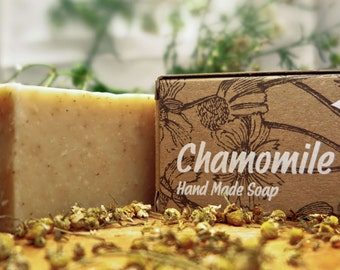 Chamomile Soap,herbal soap,all natural soap,organic soap,pure soap,chrismas gift,bar soap,sensitive soap,gold process soap,all type skin