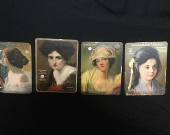 Antikamnia Tablets Calendars 1909-1912 Vintage Advertising