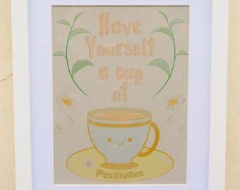 Misprint: Positivitea Motivational a5 Art Print