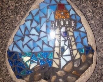 Garden Stone Mosaic Lighthouse