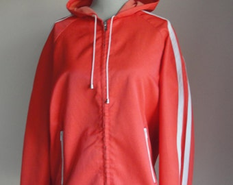 Ulkovaate OY size 40. Jacket with hood the waterproofed whole, two white bands