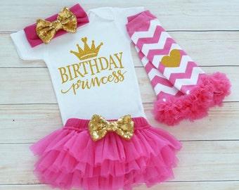 First Birthday Outfit Girl, Birthday Princess Shirt, Cake Smash, 1st Birthday Girl Outfit, Princess Birthday Bodysuit, Birthday Girl Gift