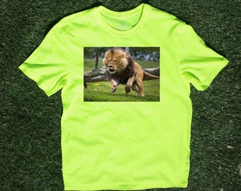 Running Lion T-shirt T Shirt Tee Mens Gift Present New Dad  Husband Christmas Gift Nature
