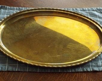 Vintage brass platter