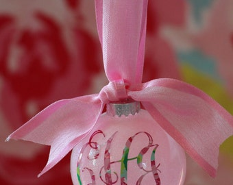 Lilly Inspired Glitter Ornaments