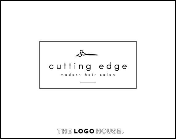 Modern Hair Salon Logo Scissors Font
