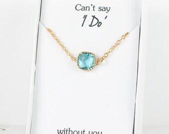 Aquamarine Gold Bracelet, Bridesmaid Aquamarine Bracelet, March Birthstone Bracelet, Blue Wedding Accessories, Bridesmaid Jewelry